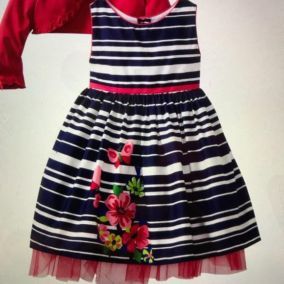 3f4f5ae08086 Young Land Dresses | Navywhite Striped Girl Dress Size 4 | Poshmark
